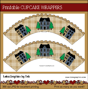 saltbox houses cupcake wrappers download