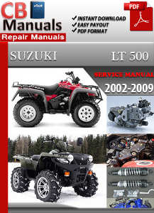 Suzuki Lt 500 2002-2009 Service Repair Manual | eBooks | Automotive