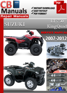 Suzuki Lt 750 King Quad 2007-2012 Service Manual | eBooks | Automotive
