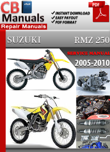 suzuki rmz 250 2005 2010 service repair manual ebooks automotive 2004 Suzuki RMZ 250 Specs 2006 Suzuki RMZ 250 Specs