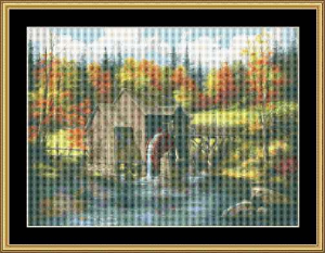 Mill At Black Rock | Crafting | Cross-Stitch | Wall Hangings