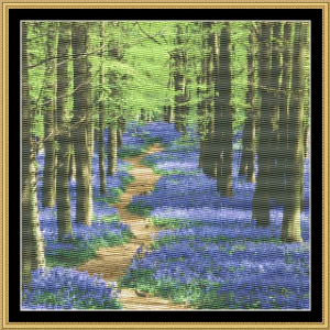 Blue Bells In The Woods | Crafting | Cross-Stitch | Wall Hangings