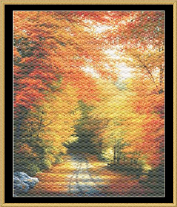Autumn In New England | Crafting | Cross-Stitch | Wall Hangings