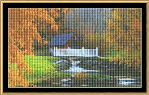 Barnyard Stream | Crafting | Cross-Stitch | Wall Hangings