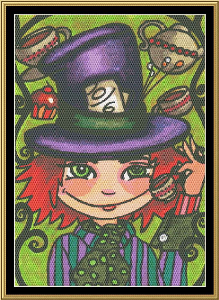 Wonderland Series - Mad Hatter | Crafting | Cross-Stitch | Wall Hangings