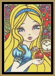Wonderland Series - Alice | Crafting | Cross-Stitch | Wall Hangings