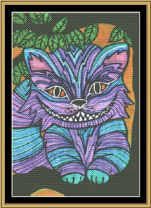 Wonderland Series - Cheshire Cat | Crafting | Cross-Stitch | Wall Hangings