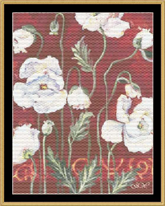 Iceland Poppies | Crafting | Cross-Stitch | Floral