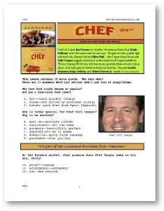 CHEF, Whole-Movie English (ESL) Lesson | eBooks | Education