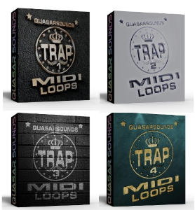 trap midi loops complete  bundle pack  1 - 4    you save $40