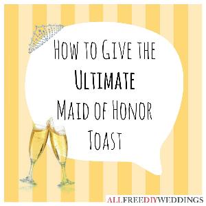 maid of honor speech