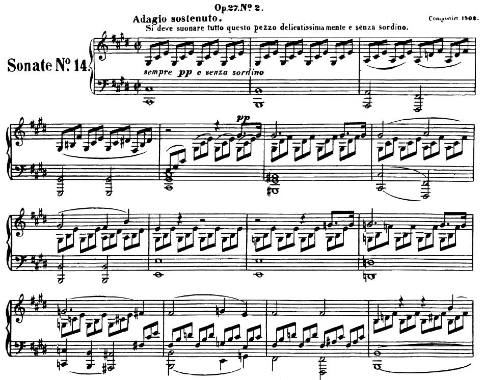 All Music Chords beethoven sheet music : Piano Sonata No.14, Op.27 No.2 in C-Sharp Minor (Moonlight Sonata ...