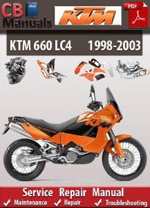 KTM 660 LC4 1998-2003 Service Repair Manual | eBooks | Automotive