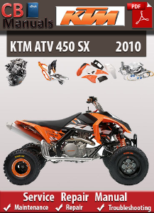 KTM 450 SX 2010 Service Repair Manual | eBooks | Automotive
