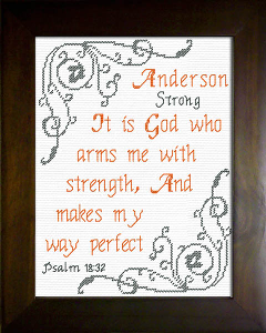 Name Blessings -  Anderson | Crafting | Cross-Stitch | Religious