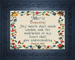 name blessings -  marie 2