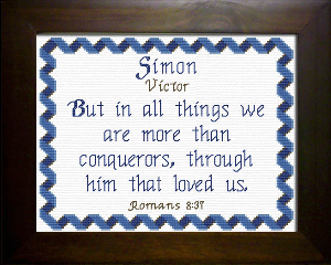 Name Blessings -  Simon | Crafting | Cross-Stitch | Religious