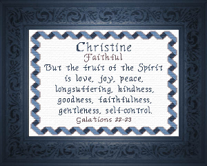 Name Blessings -  Christine 3 | Crafting | Cross-Stitch | Other