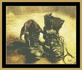 A Pair Of Shoes - Van Gogh | Crafting | Cross-Stitch | Wall Hangings