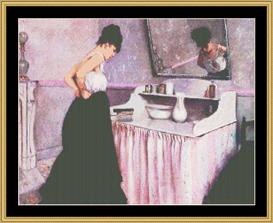 Woman At Dressing Table - Chase   Crafting   Cross-Stitch   Wall Hangings
