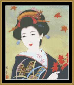 Geisha | Crafting | Cross-Stitch | Wall Hangings