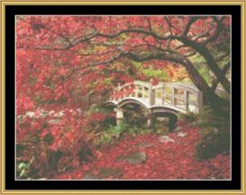 Japanese Bridge | Crafting | Cross-Stitch | Wall Hangings