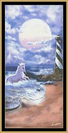 Horse And Lighthouse | Crafting | Cross-Stitch | Wall Hangings