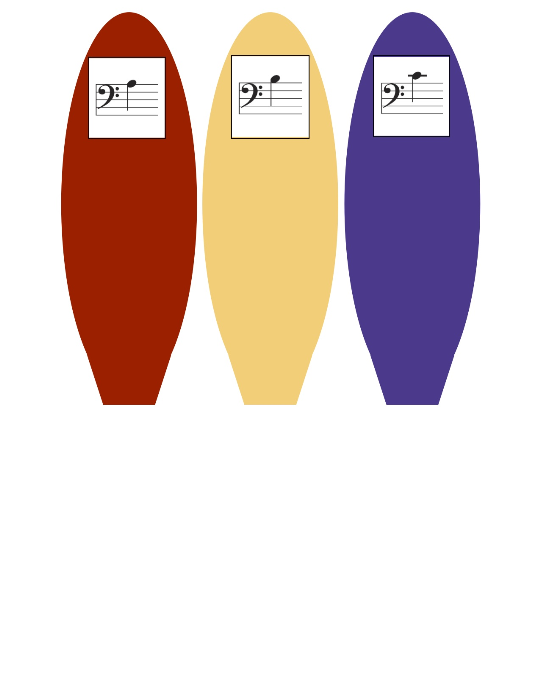 First Additional product image for - Bass Clef Turkey-Note Naming