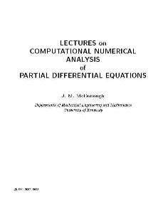 university of kentucky, partial differential equations