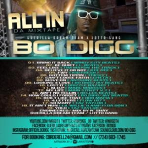 guerilla dream team / lotto gang presents... bo digg all in da mixtape