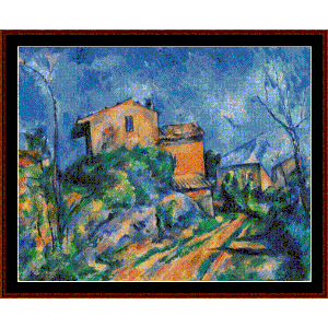 Maison Maria, 1895 - Cezanne cross stitch pattern by Cross Stitch Collectibles | Crafting | Cross-Stitch | Wall Hangings