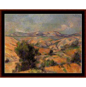 Mount Ste. Victoire, 1886 - Cezanne cross stitch pattern by Cross Stitch Collectibles | Crafting | Cross-Stitch | Wall Hangings