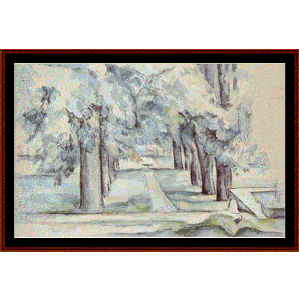 Lane of Chestnut Trees, 1880 - Cezanne cross stitch pattern by Cross Stitch Collectibles | Crafting | Cross-Stitch | Wall Hangings