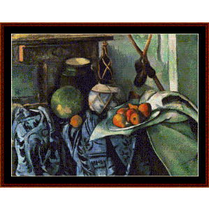 Still Life w/Ginger Jar & Eggplants - Cezanne cross stitch pattern by Cross Stitch Collectibles | Crafting | Cross-Stitch | Other