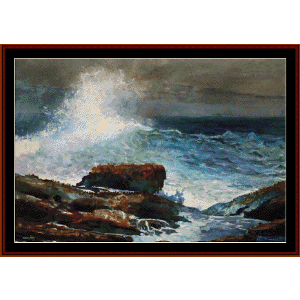 Incoming Tide - Scarborough, Maine - Homer cross stitch pattern by Cross Stitch Collectibles | Crafting | Cross-Stitch | Wall Hangings