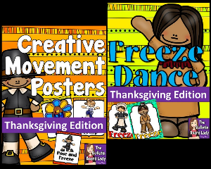 Thanksgiving Freeze Dance and Creative Movement | Other Files | Everything Else