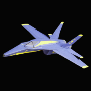 Paper F-18 Blue Angel | Crafting | Paper Crafting | Paper Models
