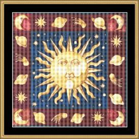 Celtic Sun | Crafting | Cross-Stitch | Wall Hangings