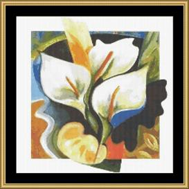 Calla Lilies | Crafting | Cross-Stitch | Wall Hangings