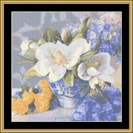 Soft Magnolia | Crafting | Cross-Stitch | Wall Hangings
