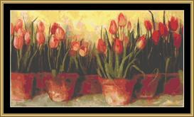 Tulips | Crafting | Cross-Stitch | Wall Hangings