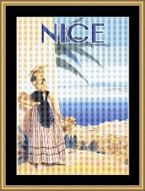 Nice - Vintage Travel | Crafting | Cross-Stitch | Wall Hangings