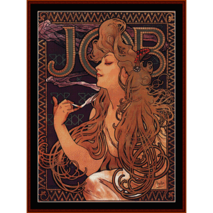 Job - Mucha cross stitch pattern by Cross Stitch Collectibles | Crafting | Cross-Stitch | Wall Hangings