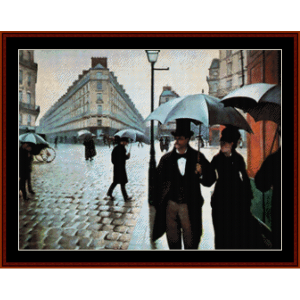 Paris Rainy Day - Caillebotte cross stitch pattern by Cross Stitch Collectibles | Crafting | Cross-Stitch | Other