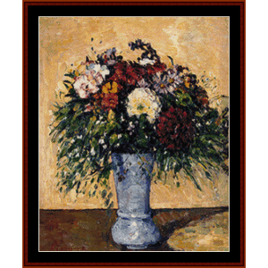 Flowers in a Blue Vase - Cezanne cross stitch pattern by Cross Stitch Collectibles | Crafting | Cross-Stitch | Other