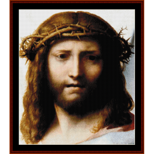 Head of Christ - Correggio cross stitch pattern by Cross Stitch Collectibles | Crafting | Cross-Stitch | Wall Hangings