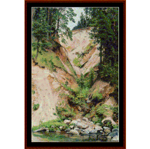 Cliff, 1893 - Shishkin cross stitch pattern by Cross Stitch Collectibles | Crafting | Cross-Stitch | Wall Hangings