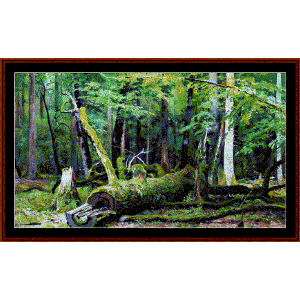 Oak ini the Bialowezka Forest - Shishkin cross stitch pattern by Cross Stitch Collectibles | Crafting | Cross-Stitch | Other