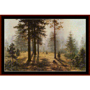 Fog in the Forest - Shishkin cross stitch pattern by Cross Stitch Collectibles | Crafting | Cross-Stitch | Wall Hangings