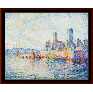 Antibes, The Towers - Signac cross stitch pattern by Cross Stitch Collectibles | Crafting | Cross-Stitch | Wall Hangings